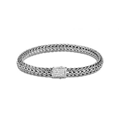WOMEN's Classic Chain Silver Small Reversible Birthstone Bracelet