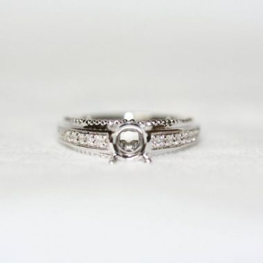 Nelson Beaded Gallery Engagement Ring