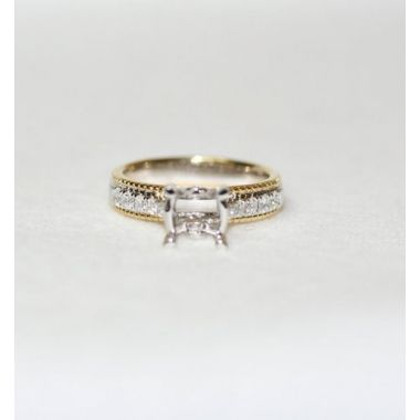 Nelson Two-Tone Rope Finish Engagement Ring
