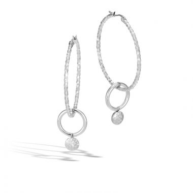 John Hardy Silver Dot Women's Drop Earrings