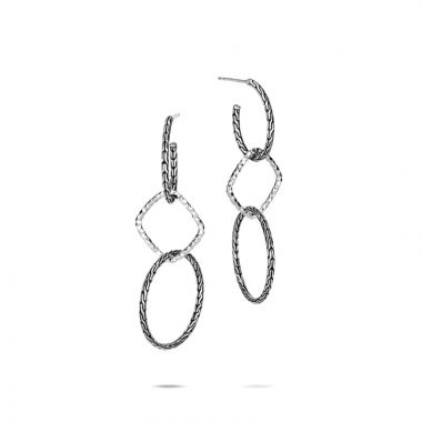 John Hardy Silver Classic Chain Women's Drop Earrings
