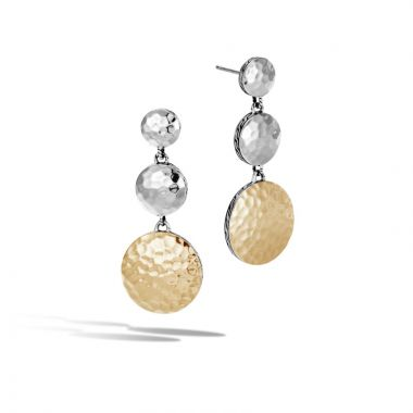 John Hardy Silver & Gold Dot Women's Drop Earrings