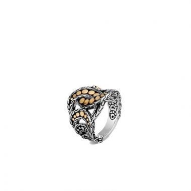 John Hardy Silver & Gold Dot Women's Ring