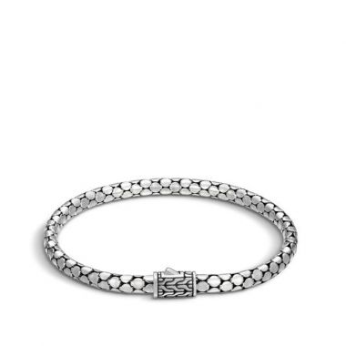Women's Dot Silver Slim Chain Bracelet