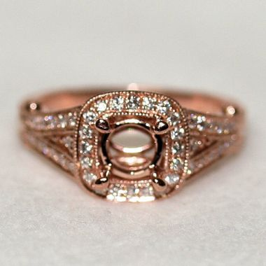 Nelson Rose Gold Split Shank Engagement Ring