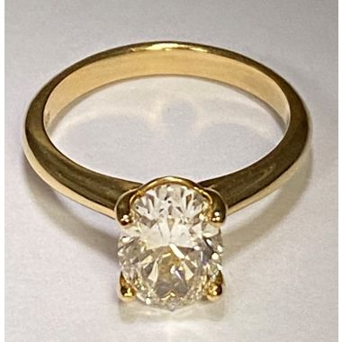 Lady's Yellow 14 Karat 4 Solitaire Engagement Ring