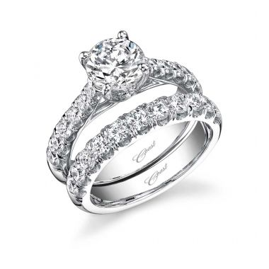 Coast Diamond 14k White Gold Cathedral Engagement Ring